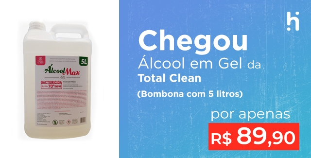 álcool gel total clean (5 litros) (mobile)